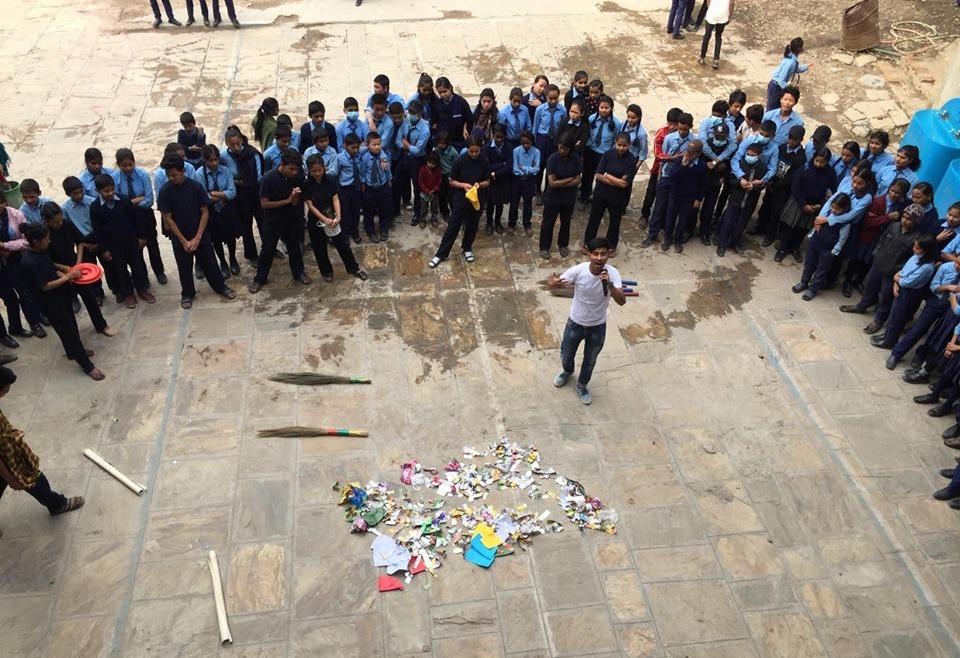 Zero waste at schools for schools in Kathmandu