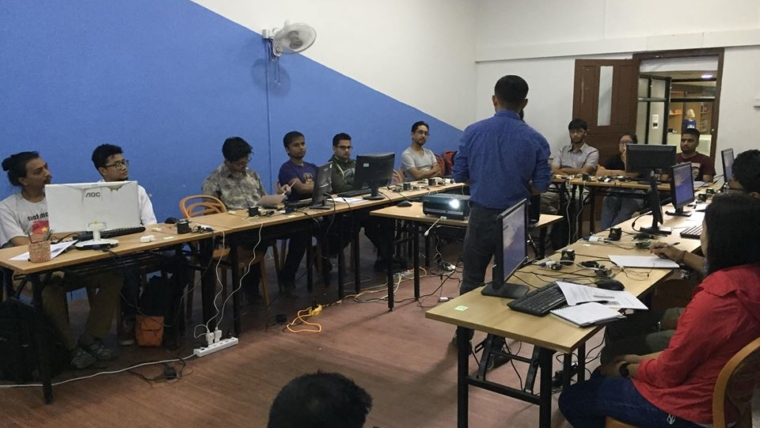 Training surveyors to map waste systems in Kathmandu